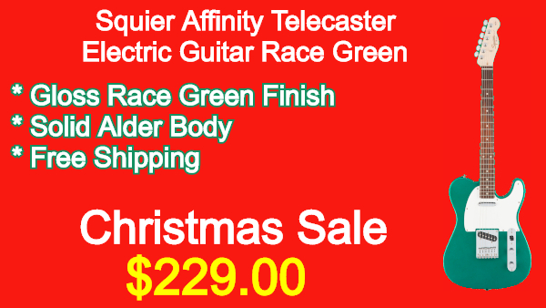 Squier-Affinity-Telecaster-Electric-Guitar-Race-Green
