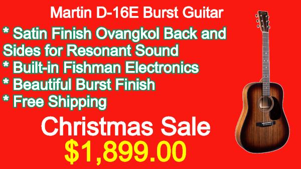 Martin D16E Burst Guitar