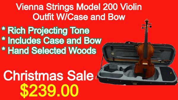 Vienna Strings Model 200 Violin Outfit W_Case and Bow