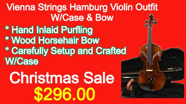 Vienna Strings Hamburg Violin Outfit W_Case Bow