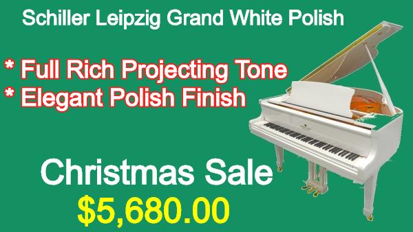 Schiller Leizpig Grand Piano White Polish