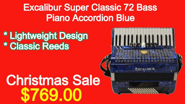 Excalibur-Frankfurt-48-Bass-Ultralight-Accordion-Red