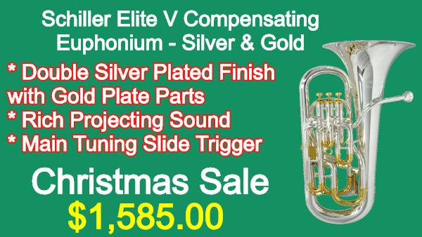 Schiller-Elite-V-Compensating-Euphonium-Silver-Gold