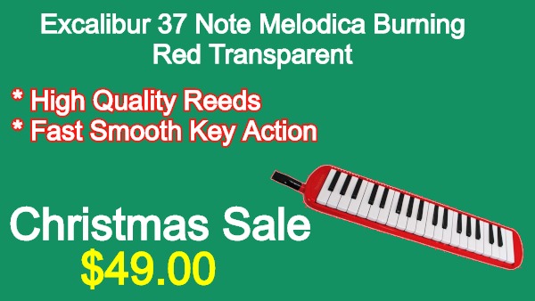 Excalibur-37-Note-Melodica-Burning-Red-Transparent