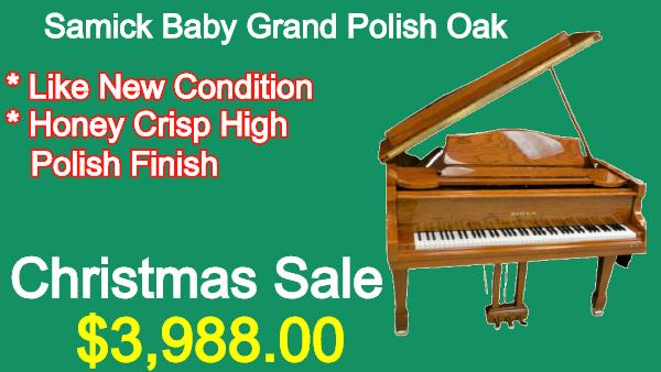 Samick Baby Grand Piano Golden Oak