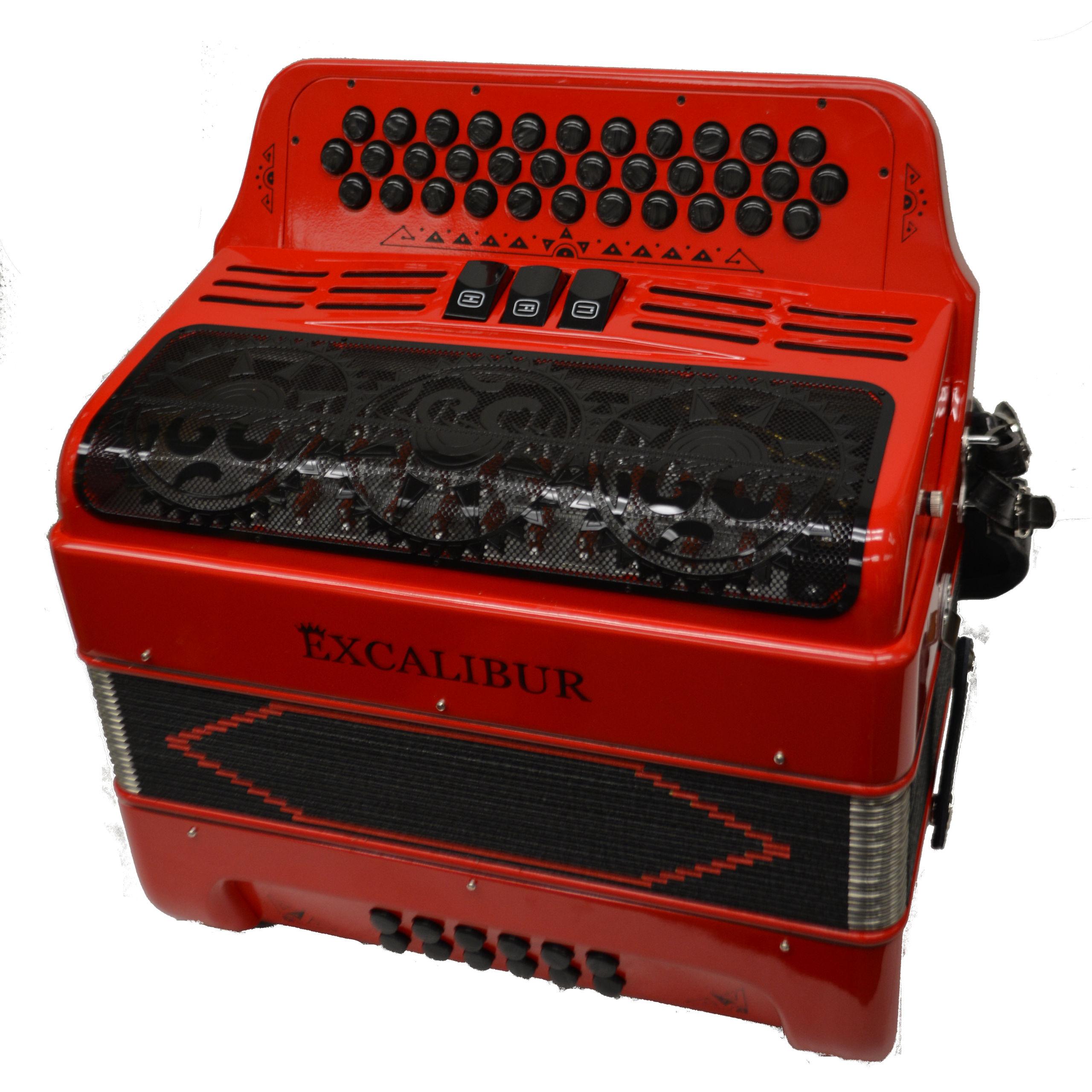Excalibur Super Classic PSI 34 Key Ferrari Red Polish