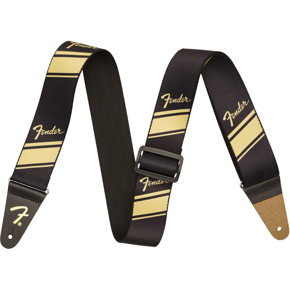 Fender® Nylon Competition Stripe Strap, Gold
