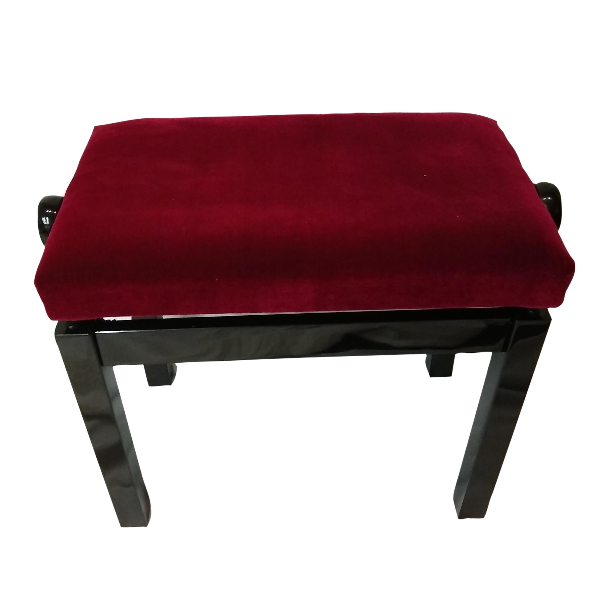 Fredrick Royal Wine Red Black Polish Adjustable Piano Bench