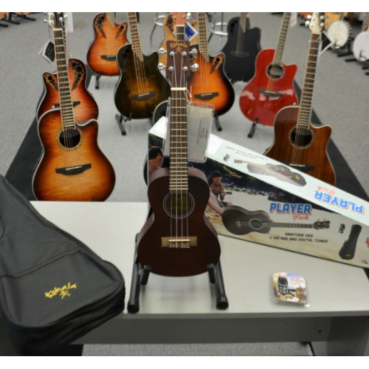 Kohala KPP-C Concert Player's Pack with Uke, Bag, Tuner
