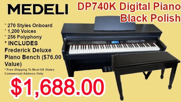 medeli dp70k digital piano and adjustable bench on sale