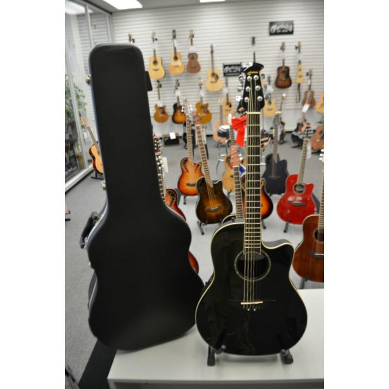 Ovation Celebrity Acoustic Guitar - Black Polish