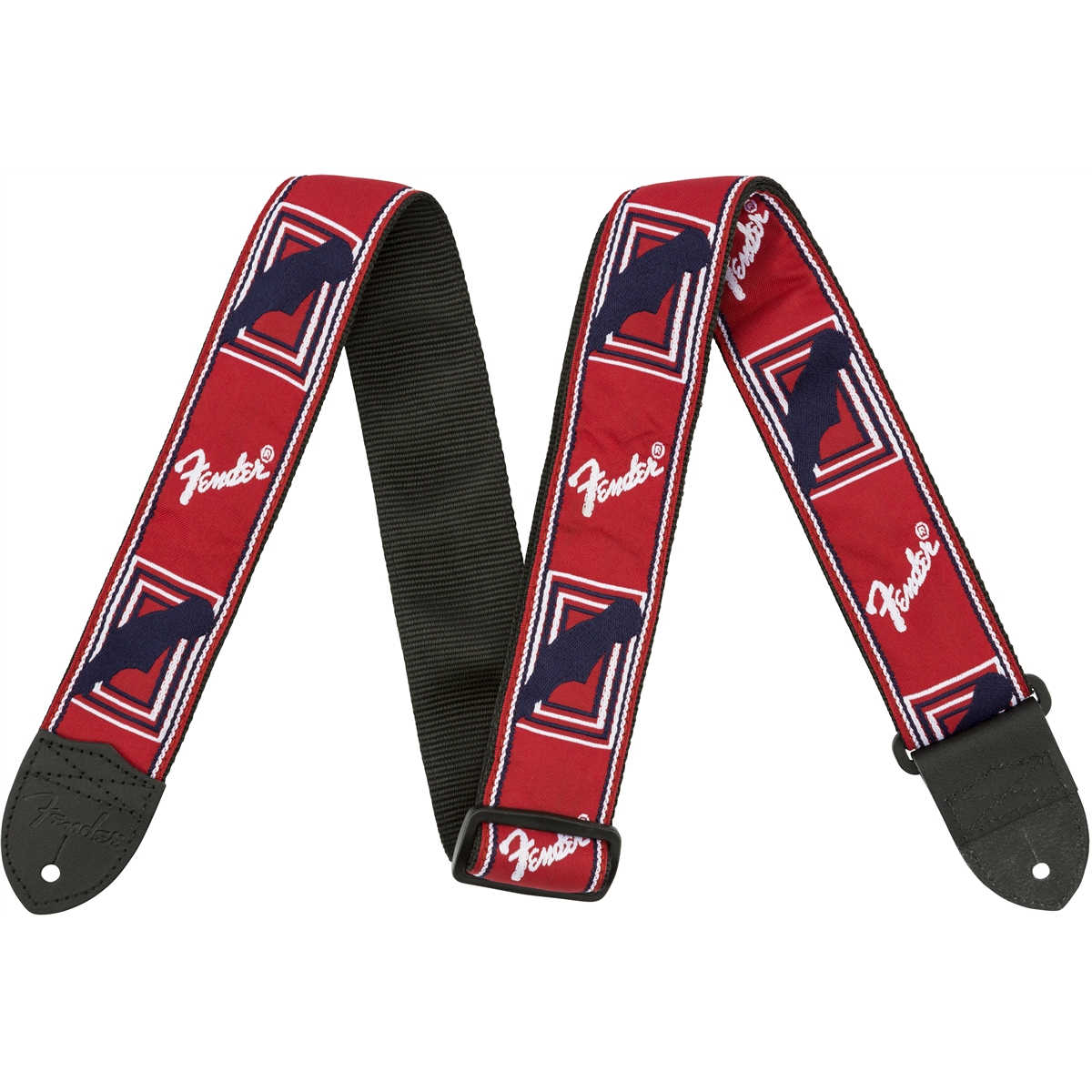 "Fender® 2"" Monogrammed Straps, Red/White/Blue"
