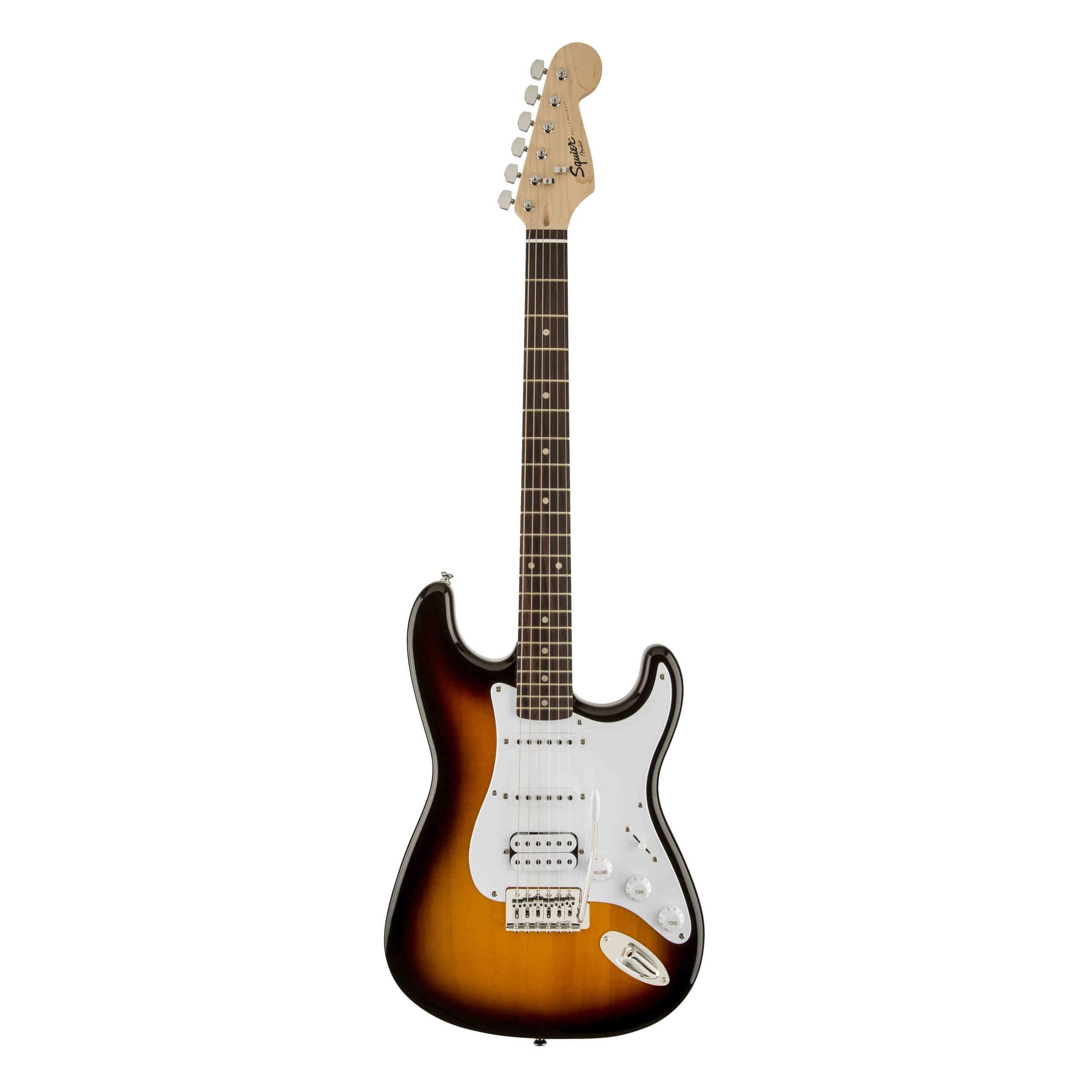 Squier Bullet® Stratocaster® HSS, Laurel Fingerboard, Brown Sunburst