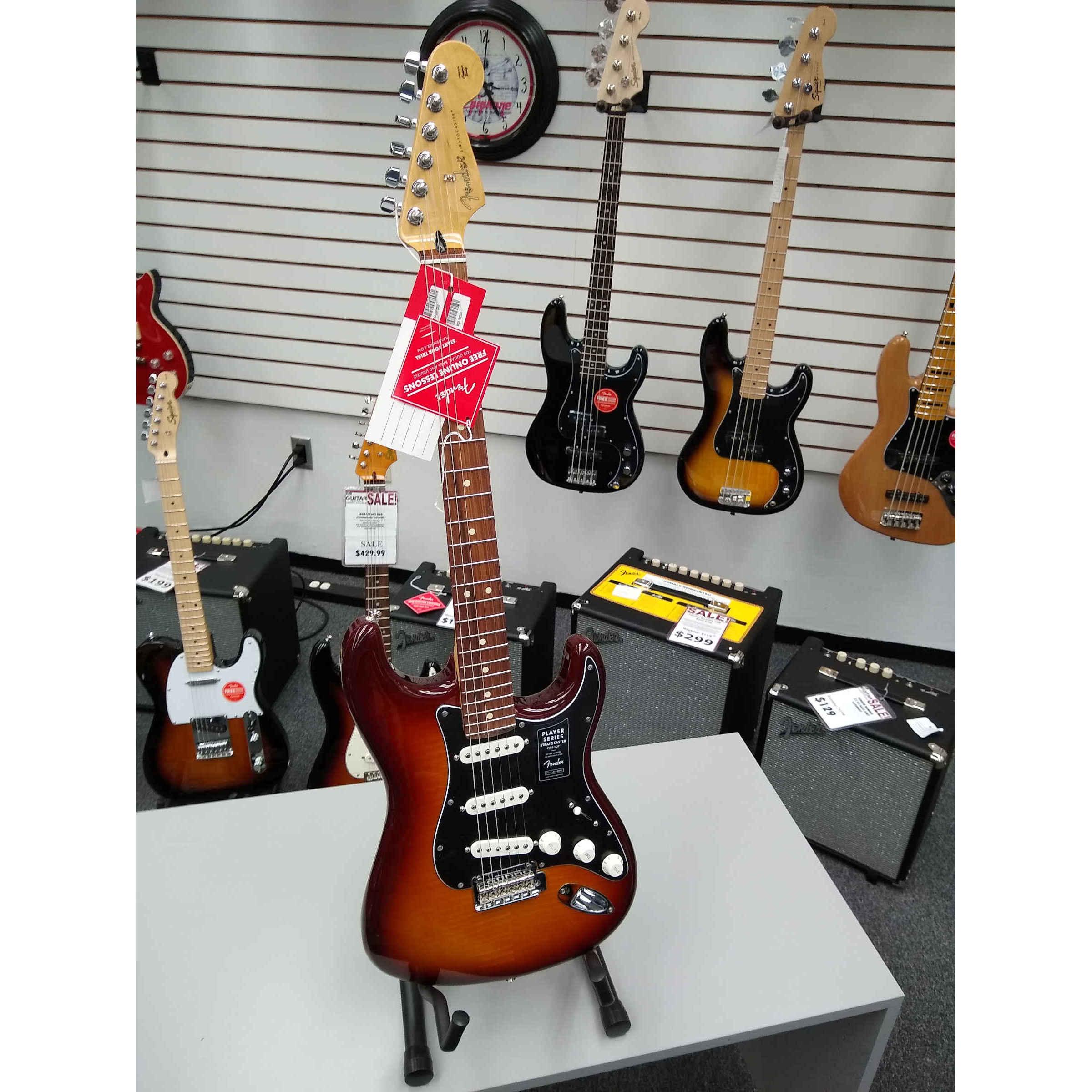 Fender Player Series Stratocaster Plus Top Tobacco Sunburst