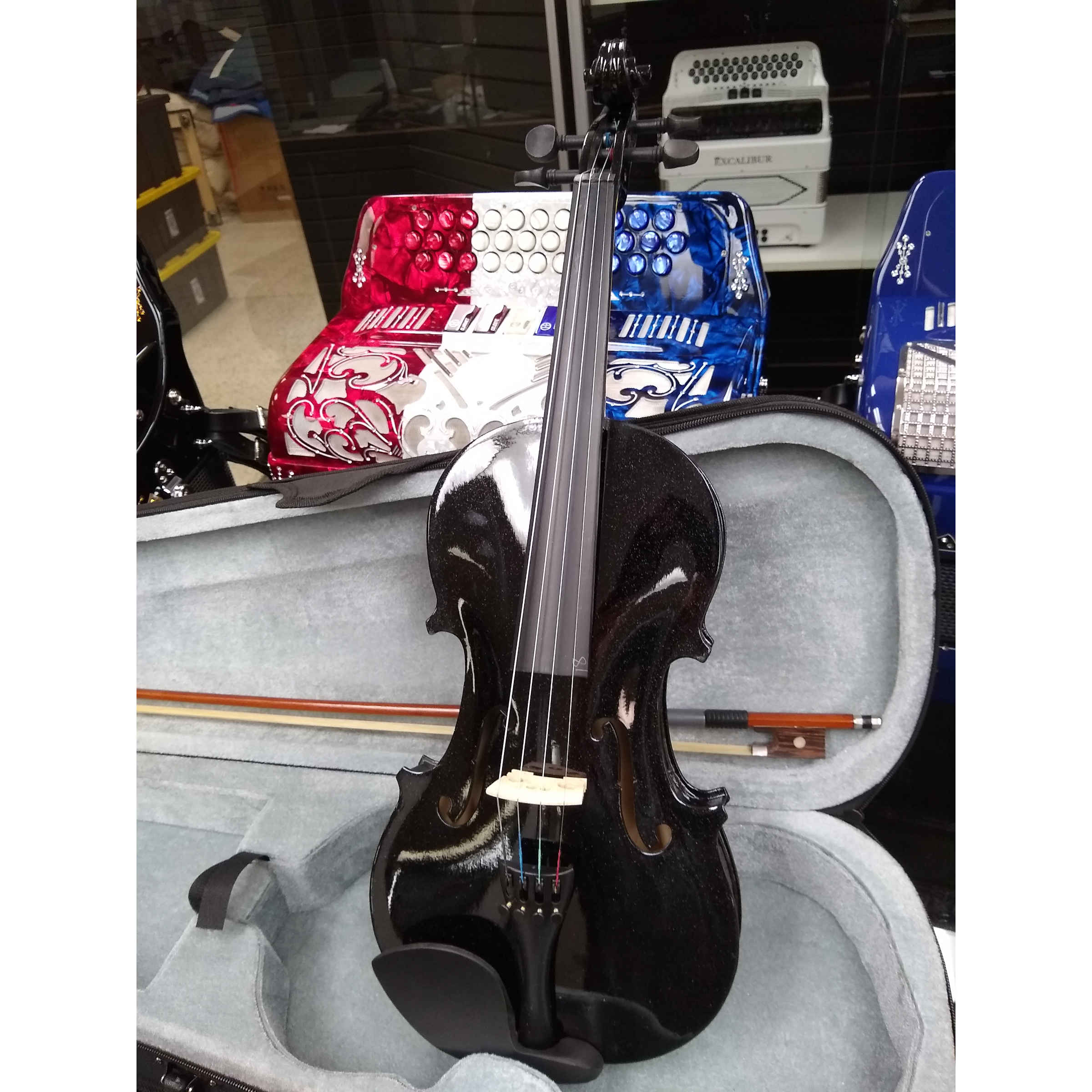 Vienna Strings Hamburg 100 Violin - Black Sparkle