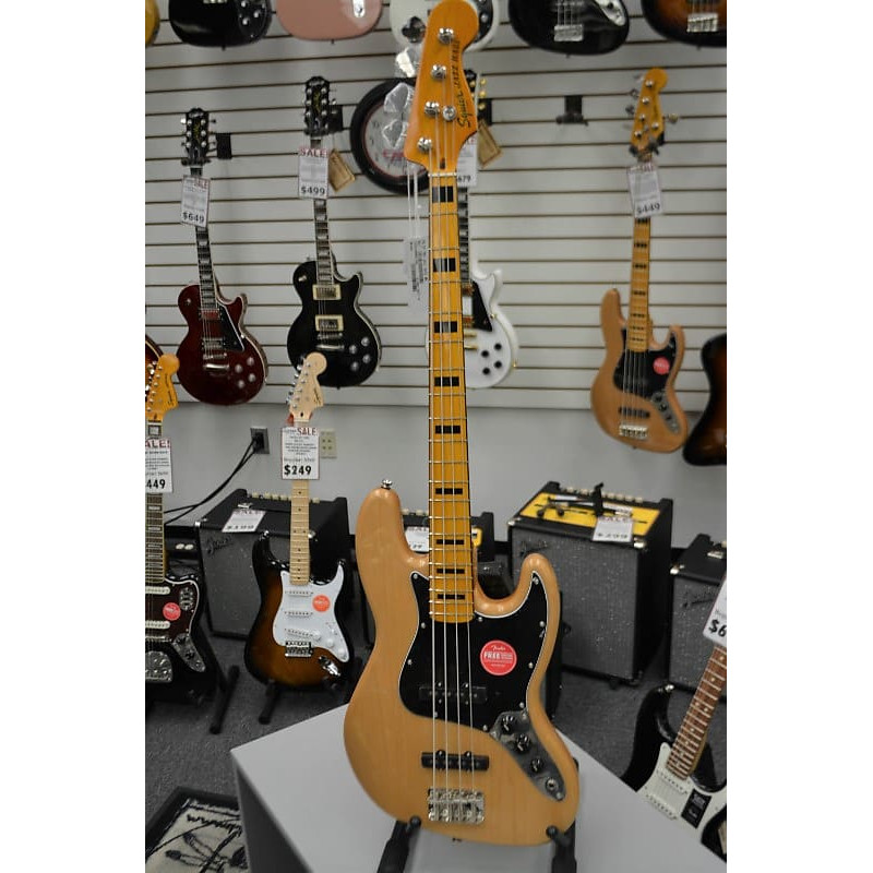 Squier Classic Vibe \'70s Jazz Bass Natural