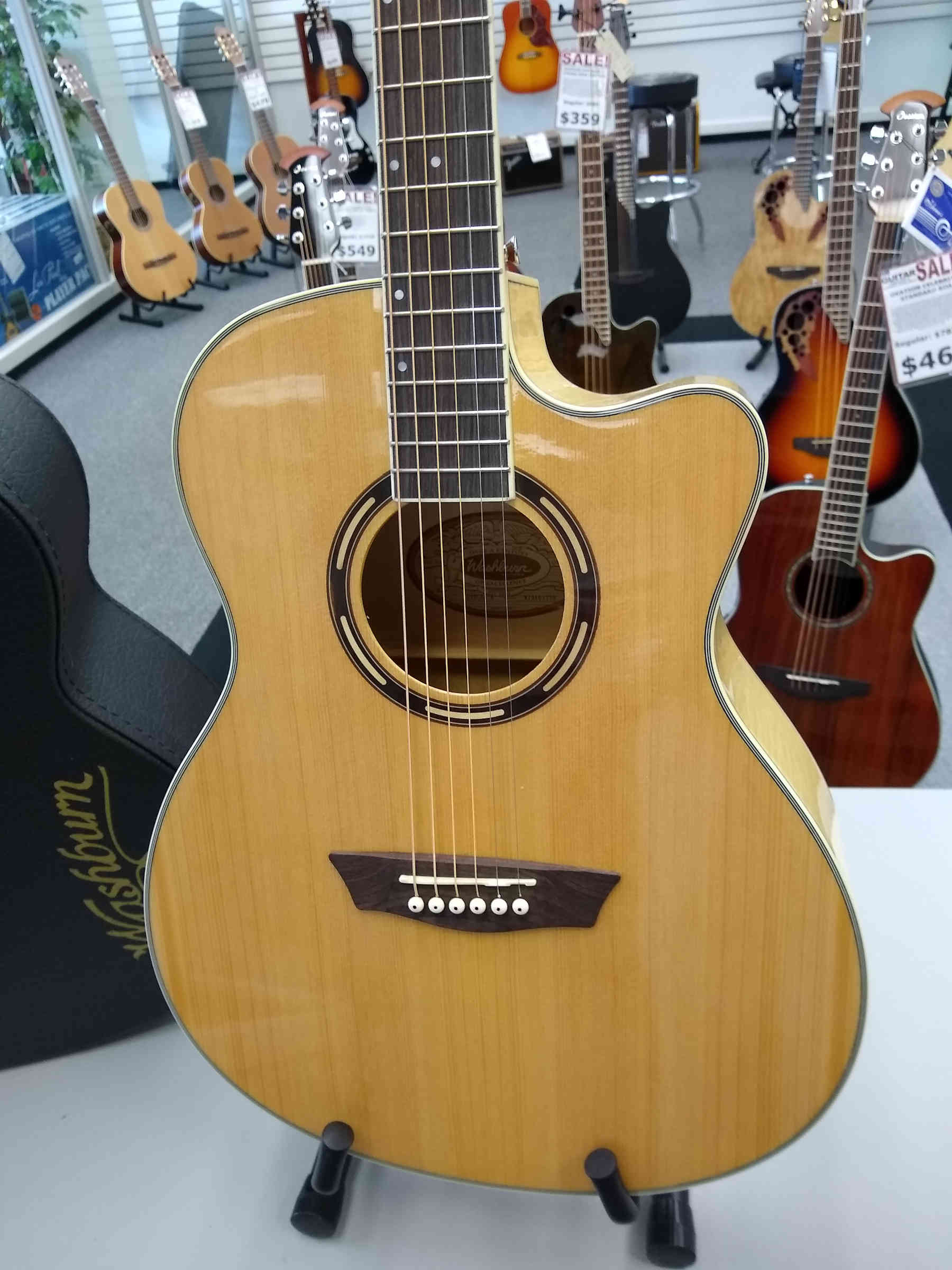 Washburn Apprentice AG40CE Acoustic Guitar with Case
