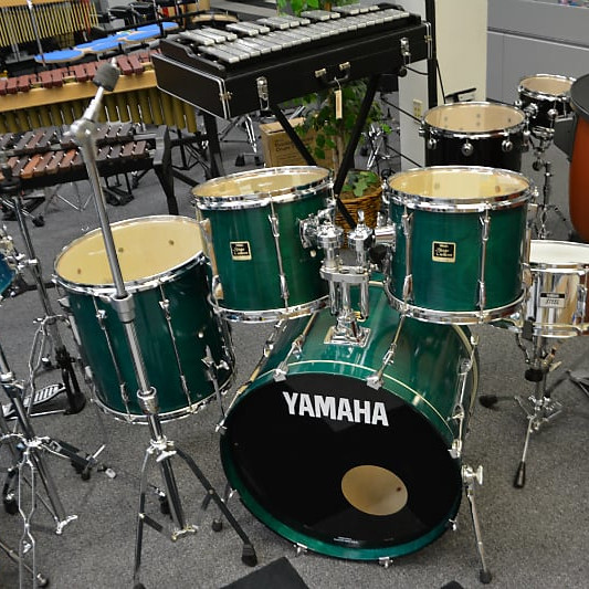 Yamaha Custom Drumset Green Lacquer