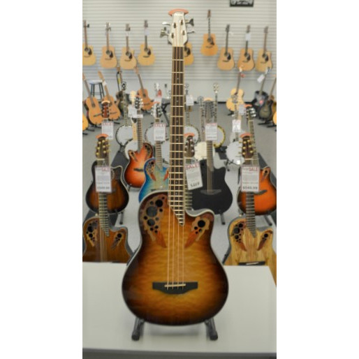 Ovation Celebrity Elite Exotic Bass Cognac Burst