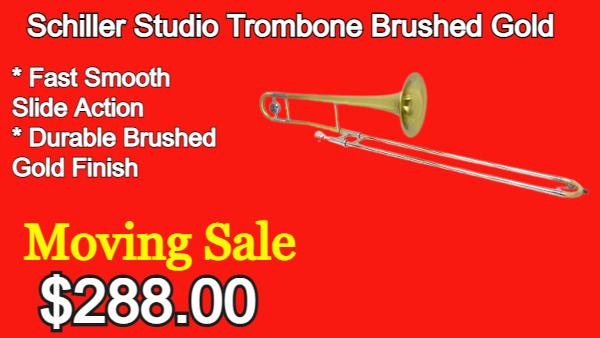 Schiller Studio Trombone Brushed Gold