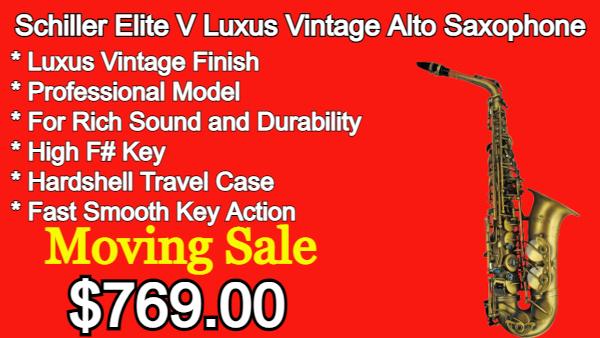 Schiller Elite V Luxus Vintage Alto Saxophone