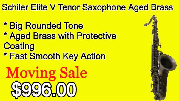 Schiler Elite V Tenor Saxophone Aged Brass