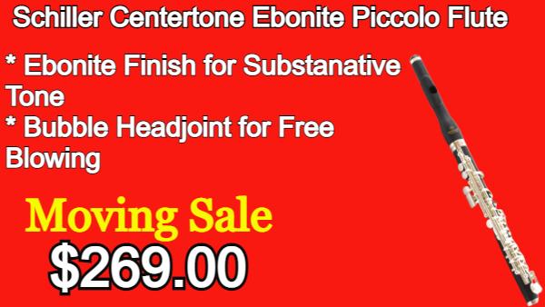 Schiller Centertone Ebonite Piccolo Flute