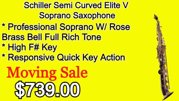 Schiller Semi Curved Elite V Soprano Saxophone