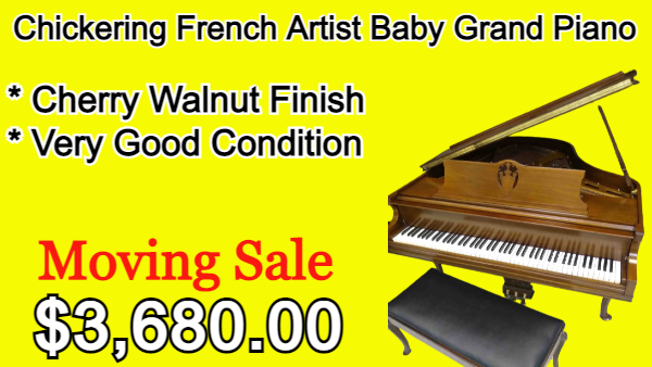 Chickering Grand Art Case French Brown Cherry Finish