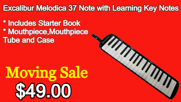Excalibur Melodica 37 Note with Learning Key Notes