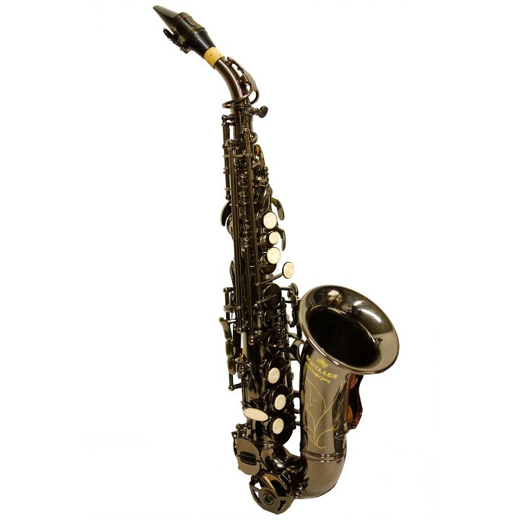 Schiller American Heritage 400 Curved Soprano Saxophone Black Nickel