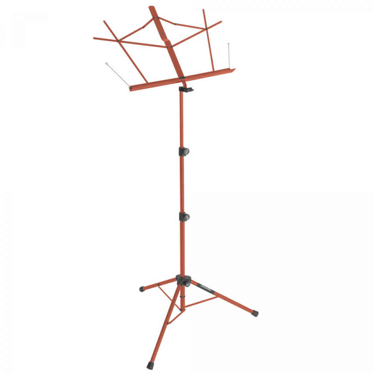 On-Stage SM7222RB Tripod-Base Sheet Music Stand with Bag - Red