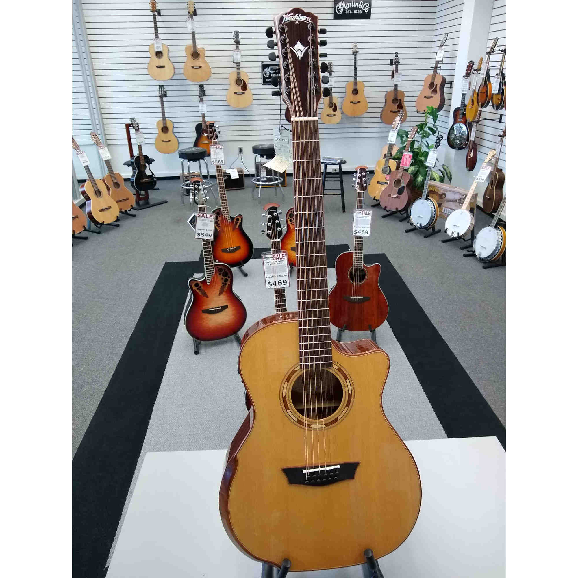 Washburn G15SCE-12 String Comfort Series  Acoustic Electric Guitar
