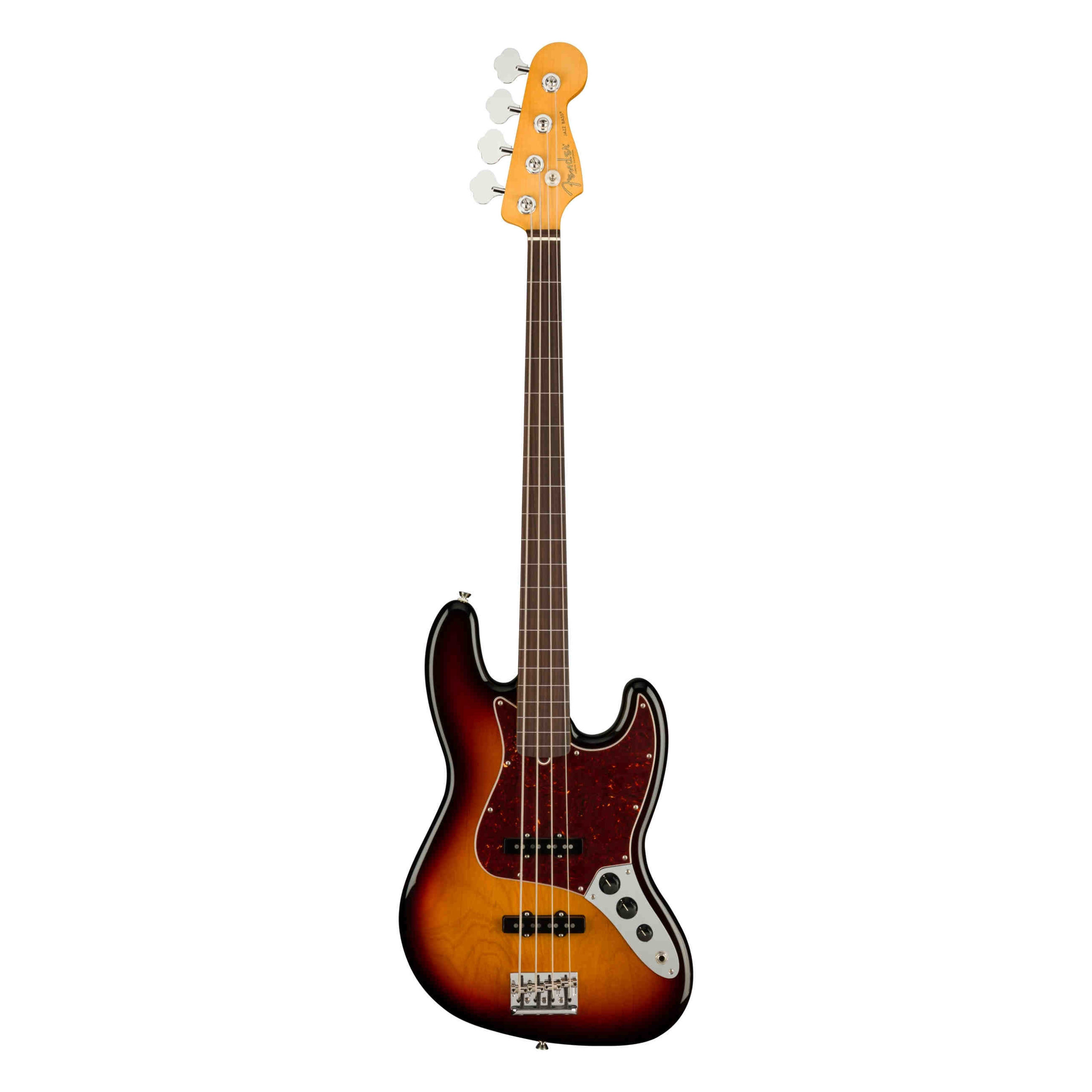 Fender American Professional II Jazz Bass® Fretless, Rosewood Fingerboard, 3-Color Sunburst
