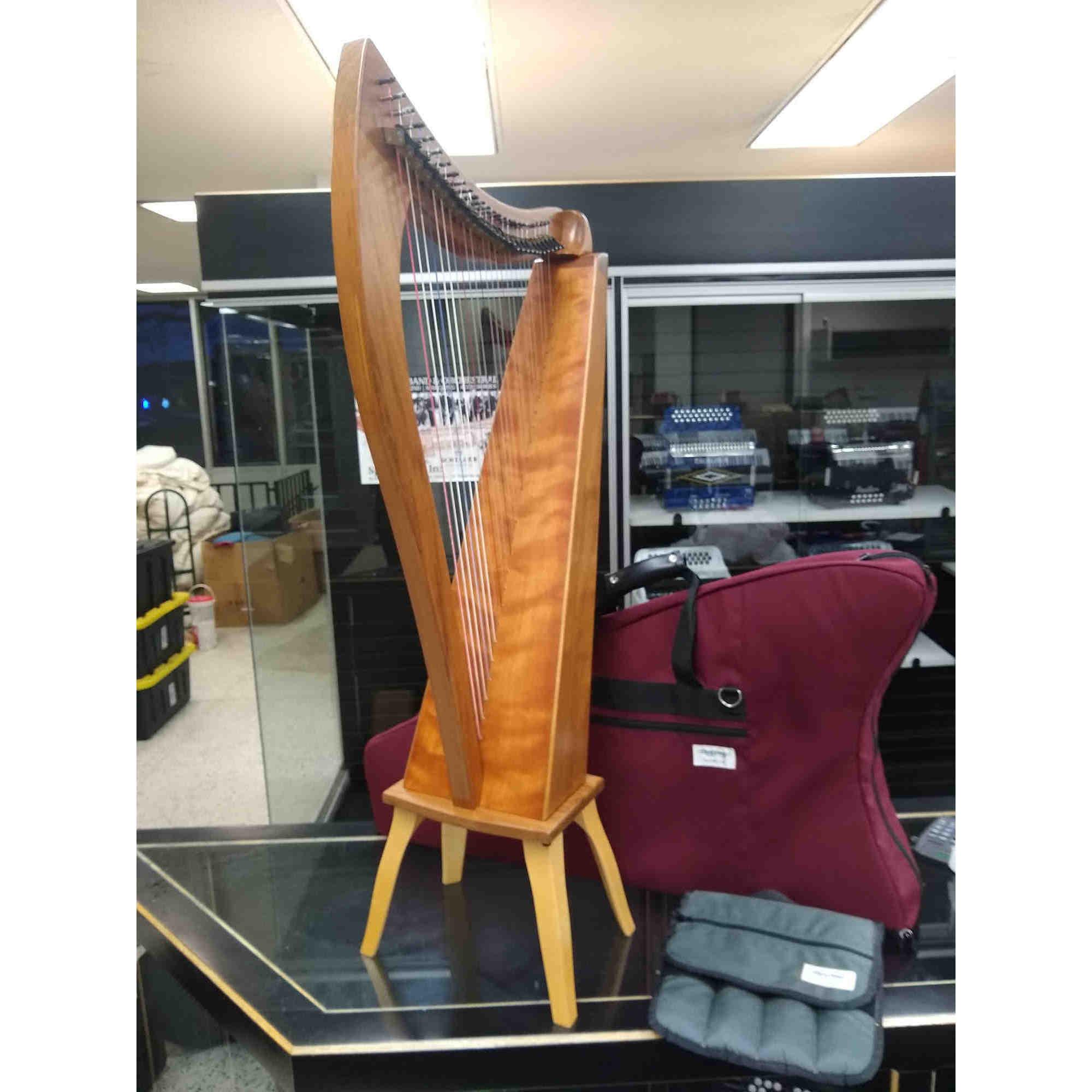 Dusty Strings 26 String Harp Sapele Finish