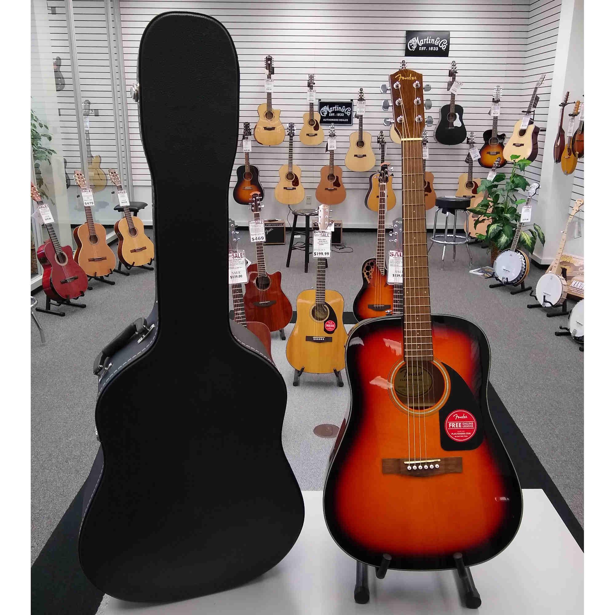 Fender CD60 Acoustic 3 Tone Sunburst