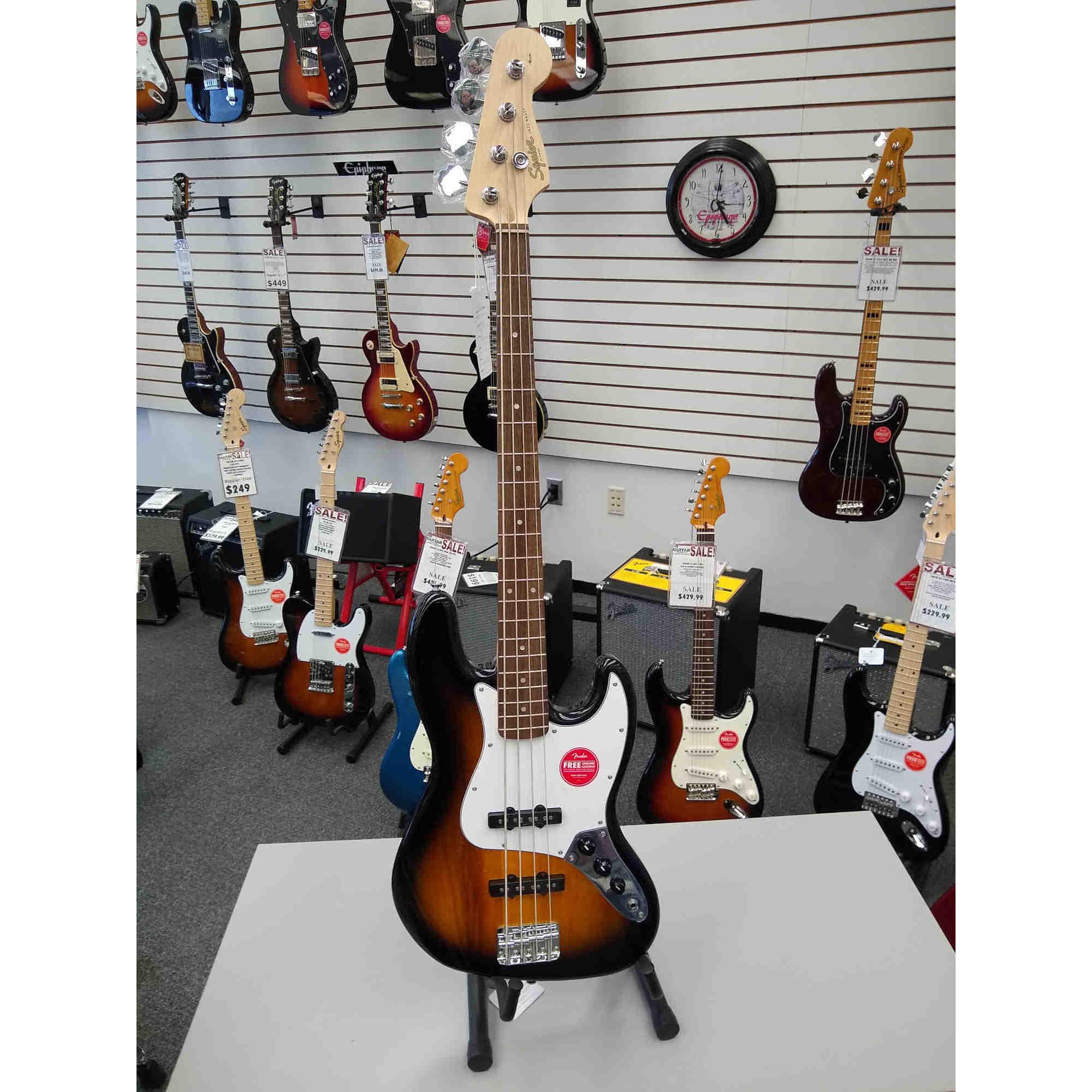 Squier Affinity Jazz Bass 3 Tone Sunburst