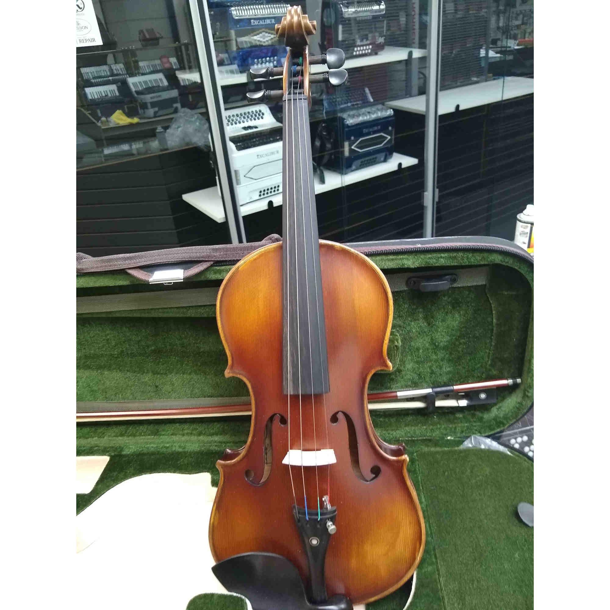 Vienna Strings Hamburg Handcraft Violin Brown Satin