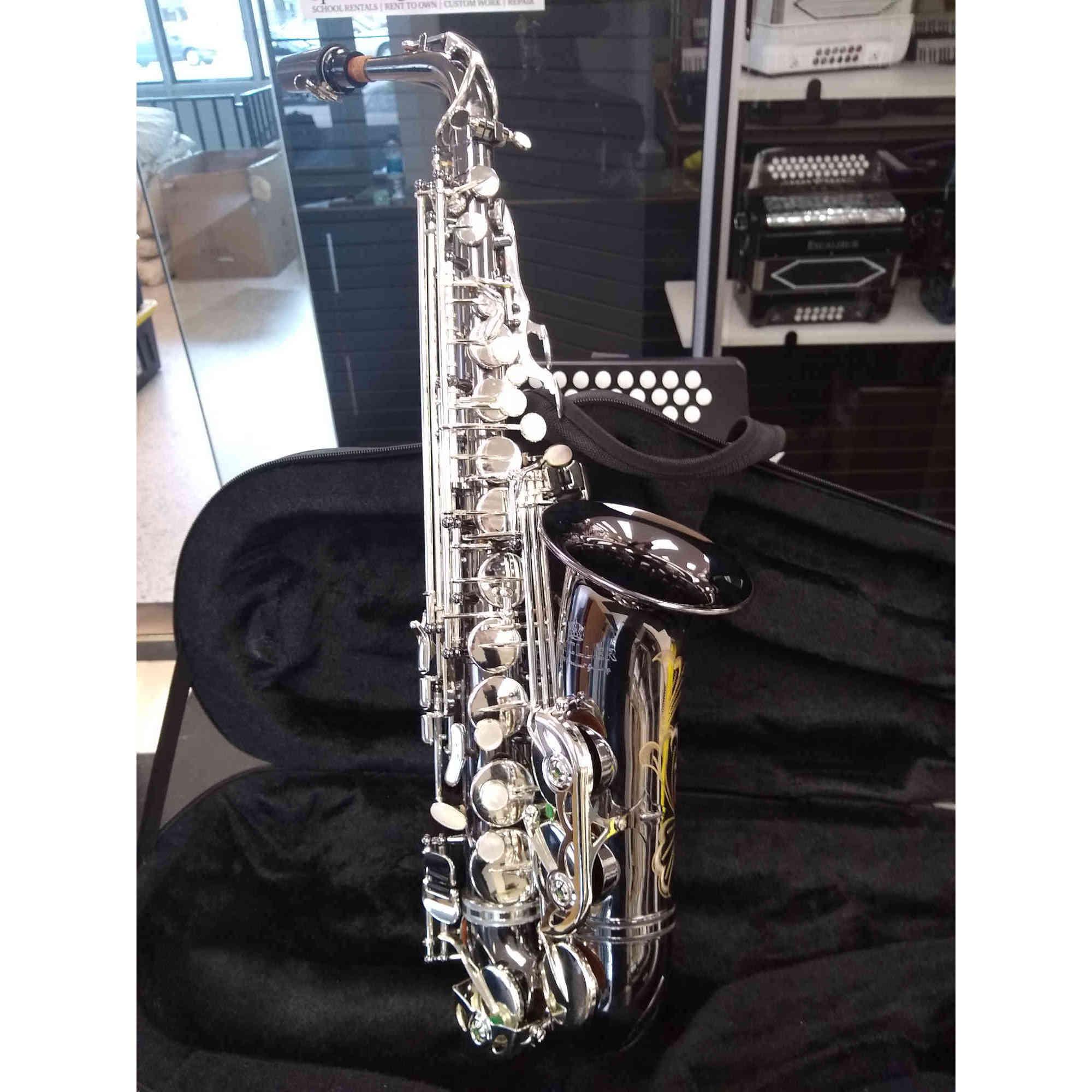 Schiller Elite V Alto Saxophone Black Nickel/Silver