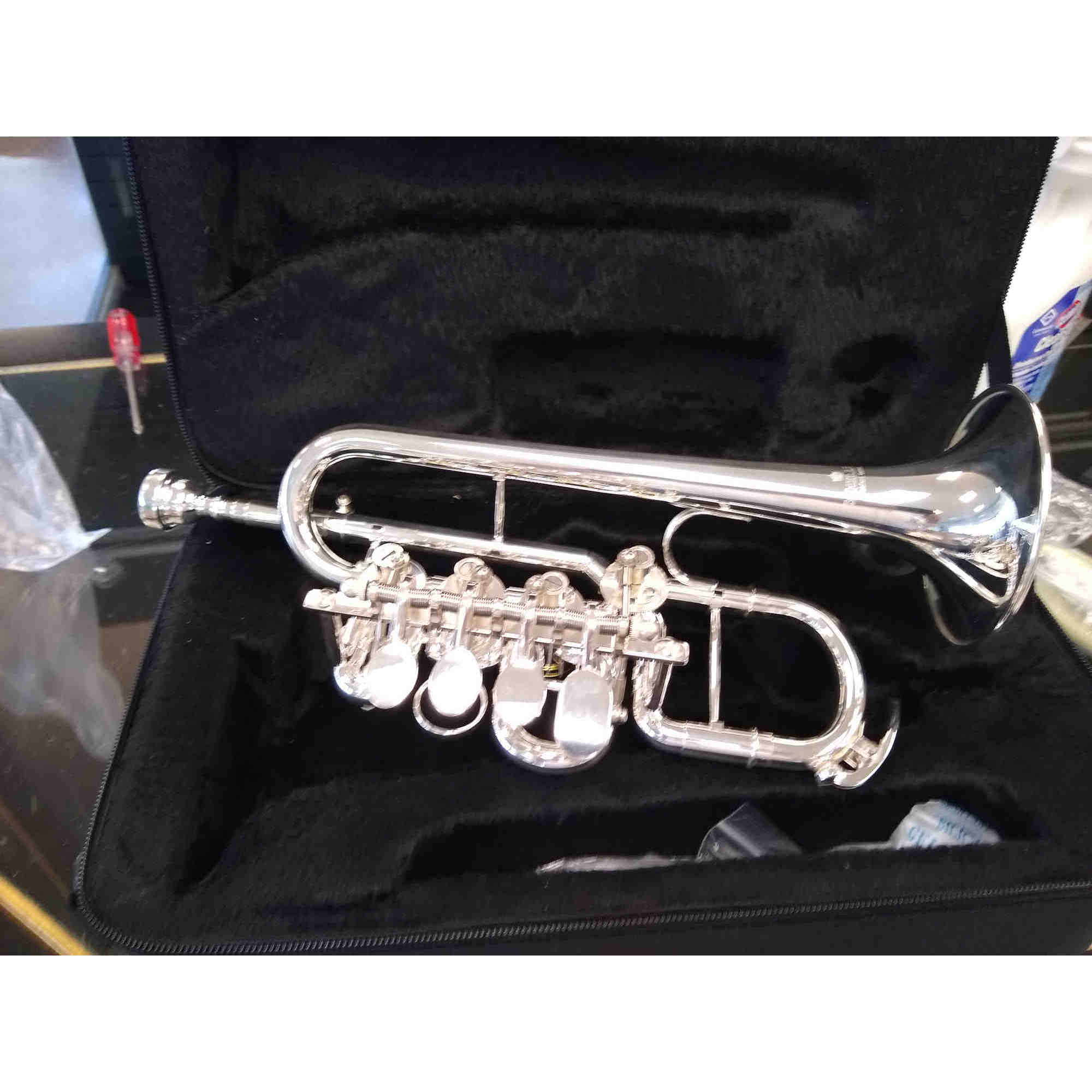 Schiller Elite Rotary Valve Piccolo Trumpet Silver Plated/Gold