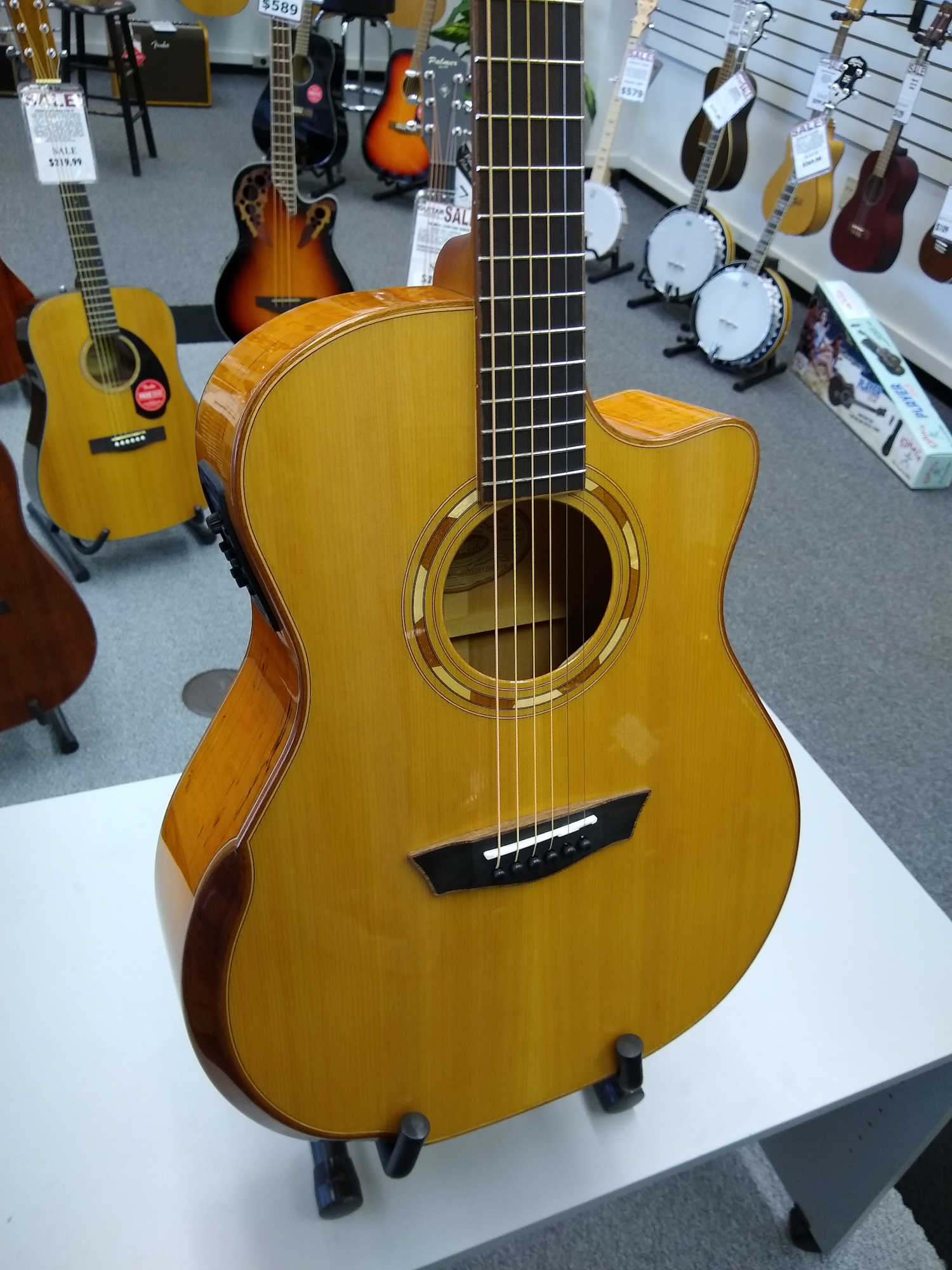 Washburn G66SCE Spalted Maple Comfort Series Guitar