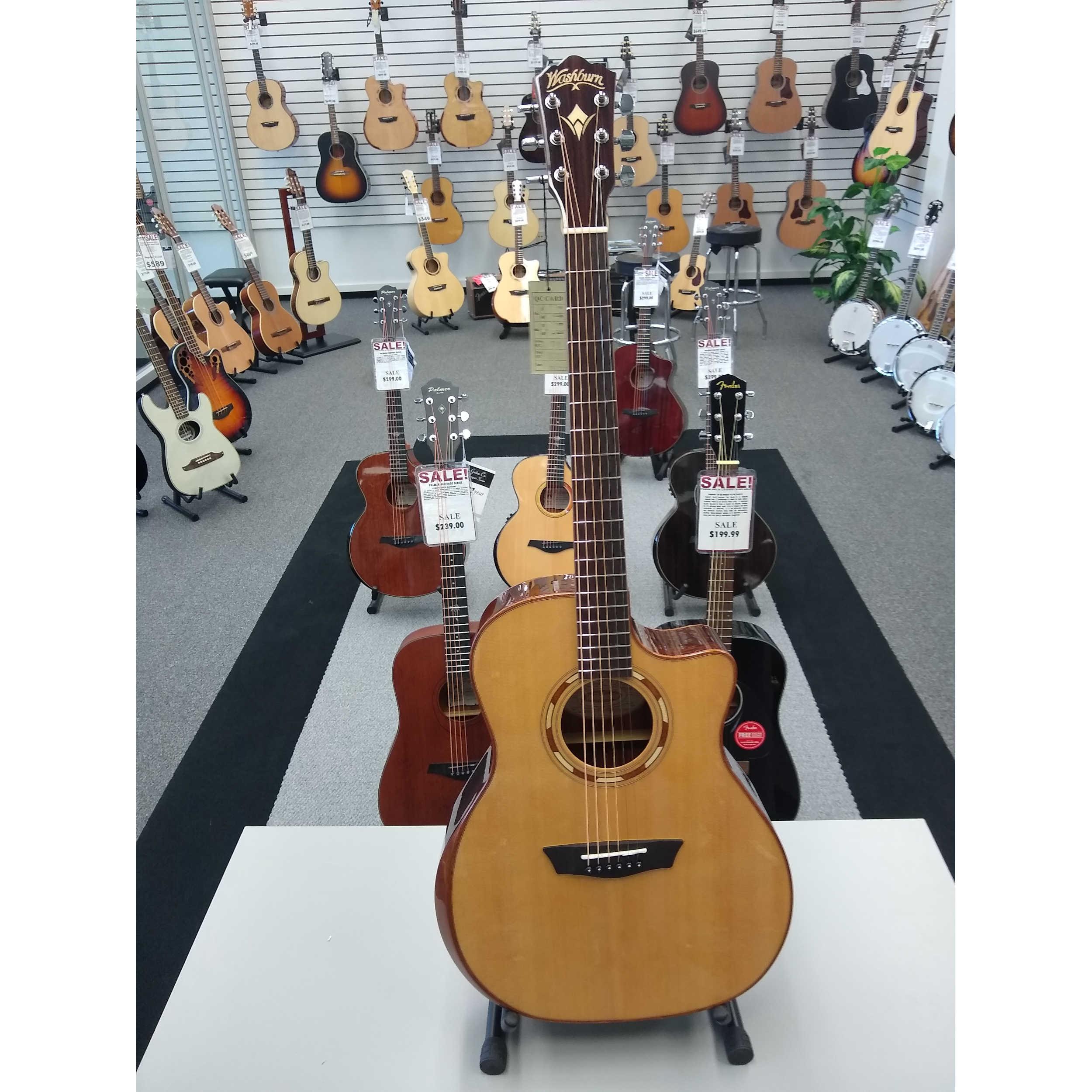 Washburn G20SCE Grand Auditorium Acoustic/Electric Guitar