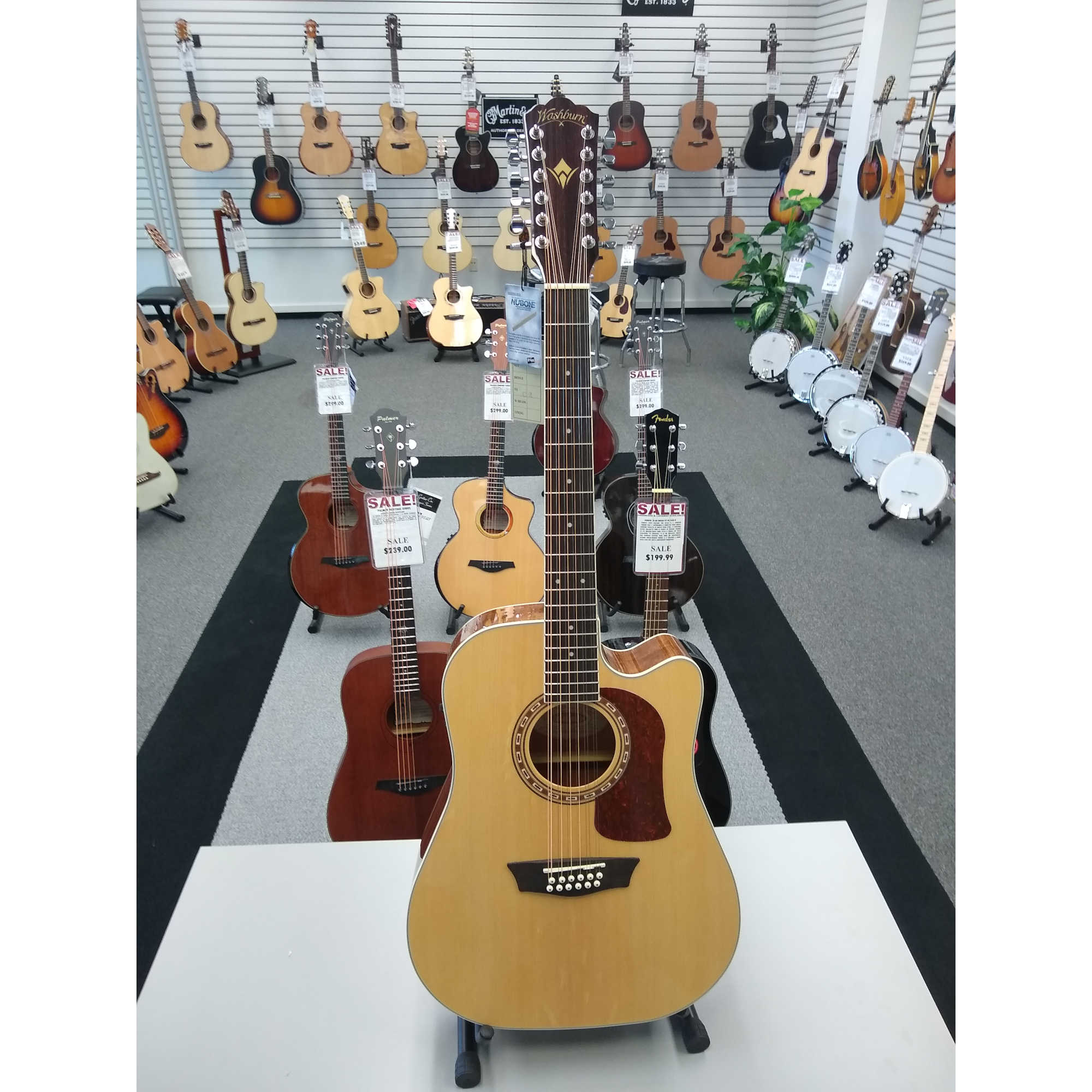 Washburn HD10SCE 12 String Acoustic Guitar