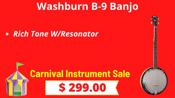 Washburn-B-9-Banjo