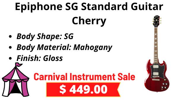 Epiphone-SG-Standard-Guitar-Cherry