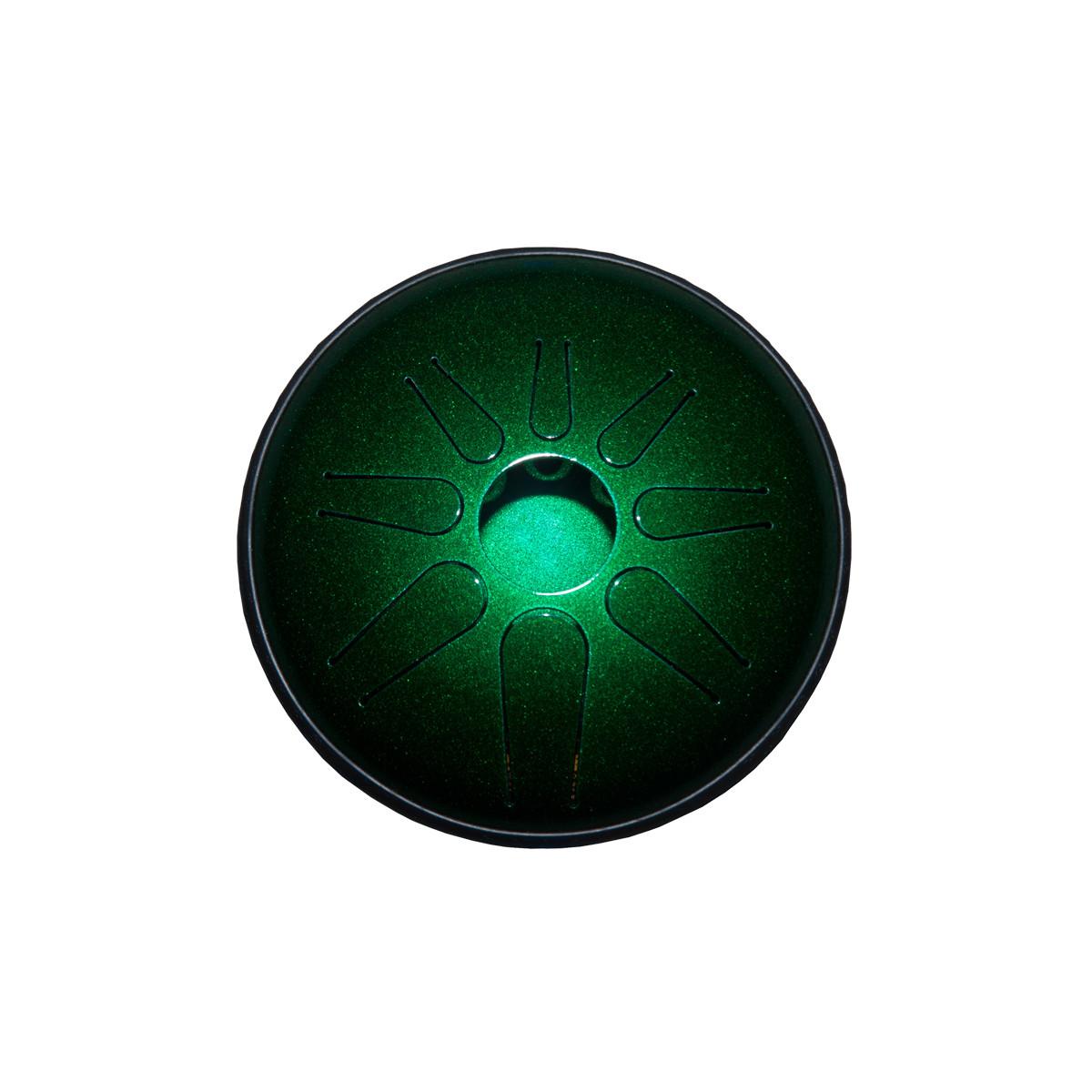 Idiopan Lunabell 8-Inch Tunable Steel Tongue Drum - Emerald Green