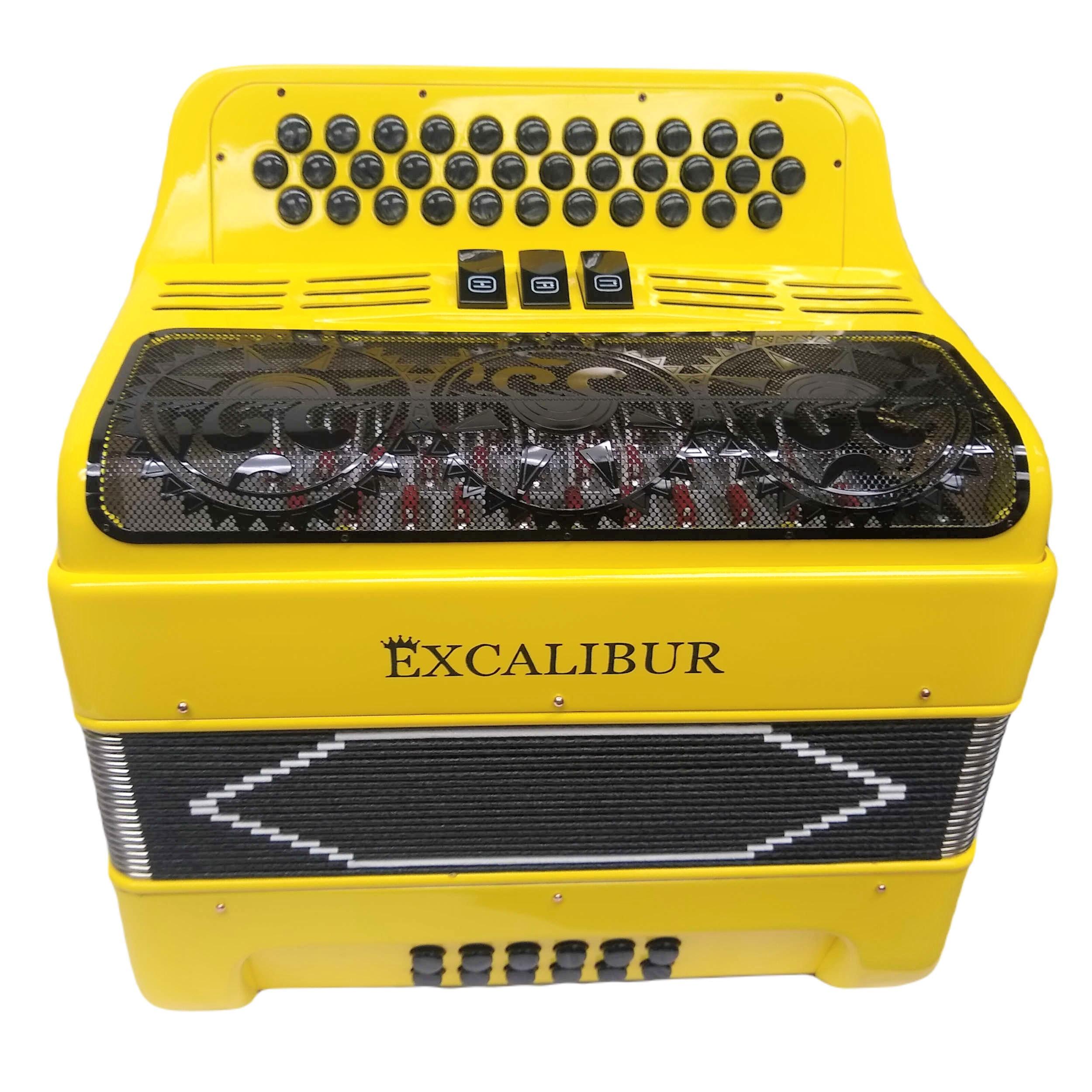 Excalibur Super Classic PSI 3 Switch Button Accordion - Lambo Yellow