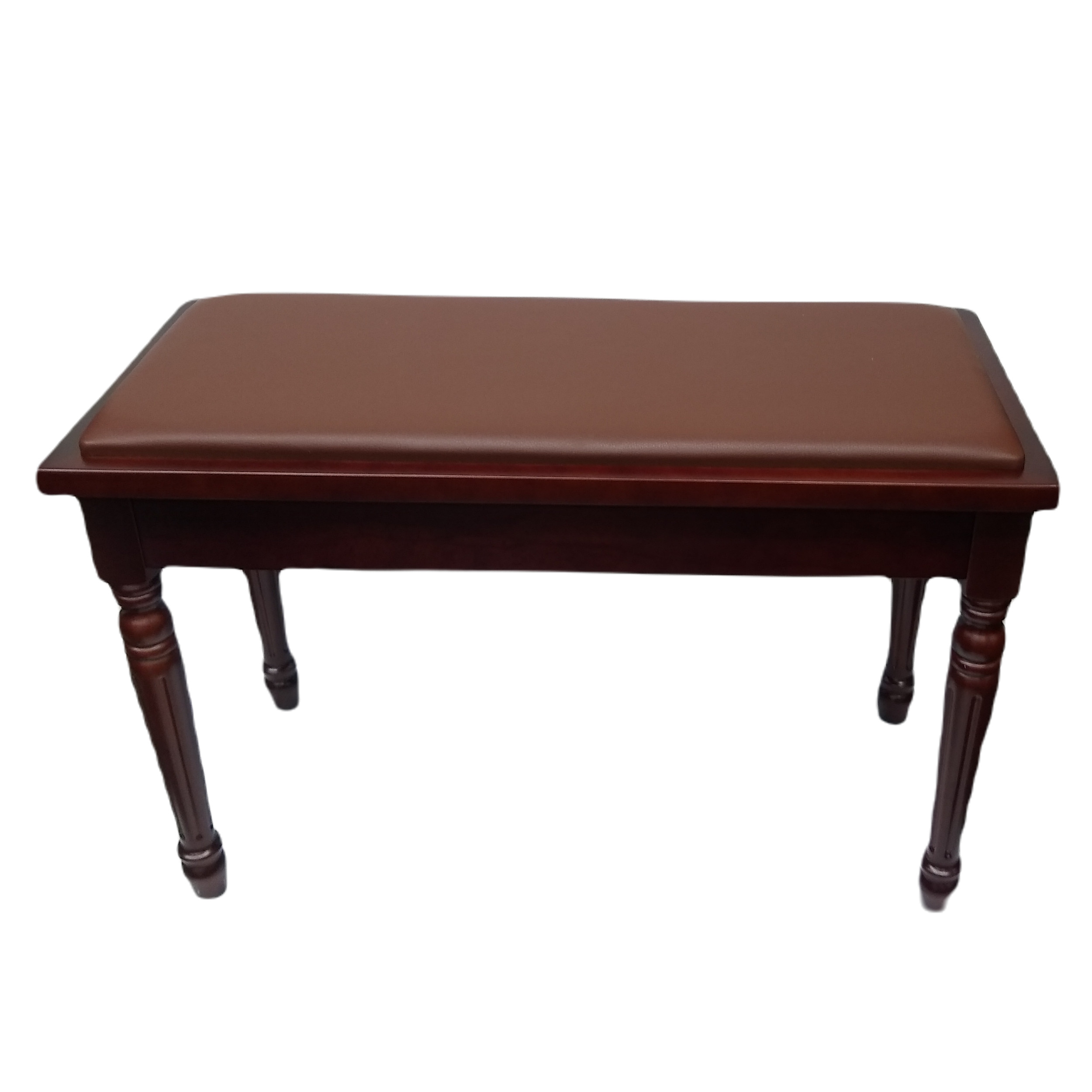 Frederick Duet Louis Piano Bench Walnut Satin Padded