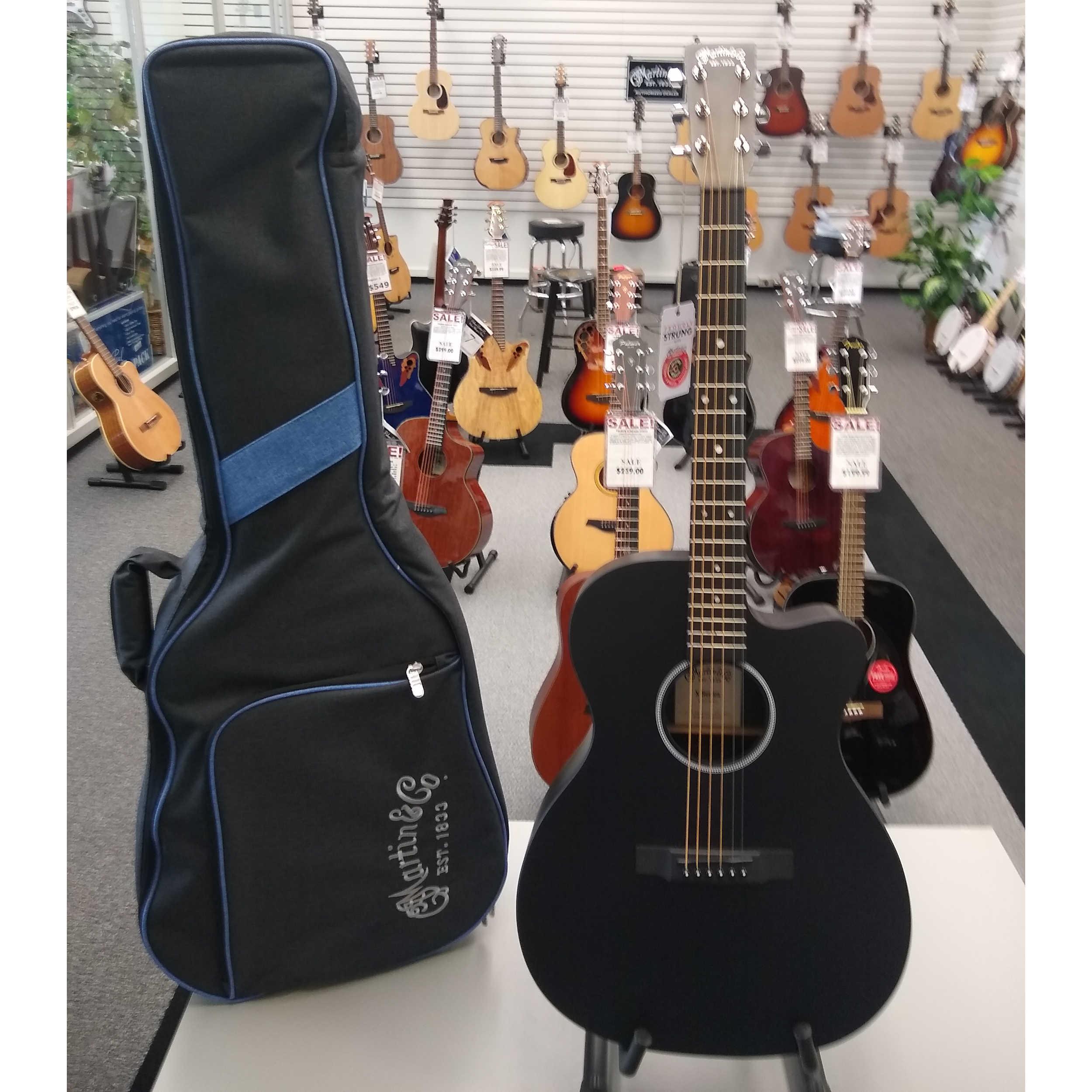 Martin OMCXAE Guitar - Black