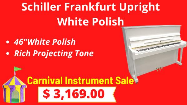 Schiller Frankfurt Upright 46 White Polish